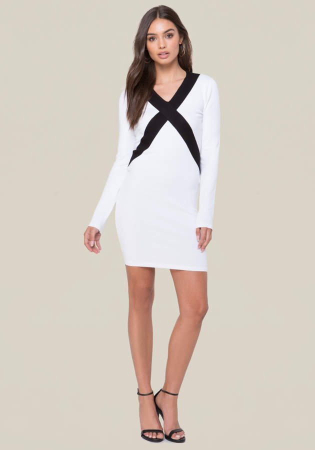Logo Colorblock Dress