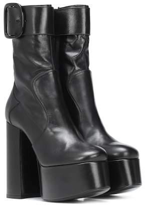 Saint Laurent Billy Platform leather ankle boots