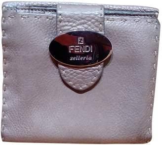 Fendi Metallic Leather Wallets