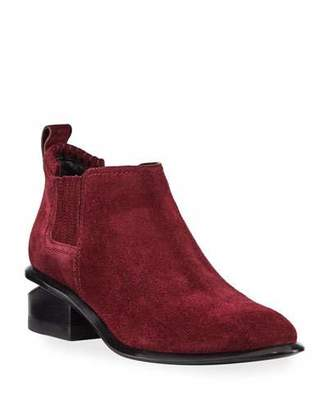 Alexander Wang Kori Low-Heel Suede Booties