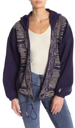 Free People Sashiko Wrap Embroidered Hoodie