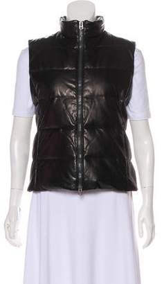June Quilted Leather Vest