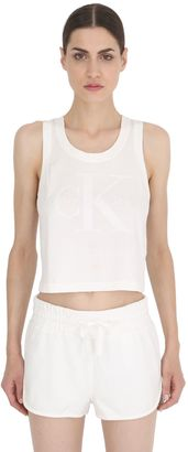 Raw Cropped Cotton Jersey Tank Top $88 thestylecure.com