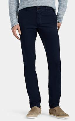 Incotex Men's Flat-Front Cotton Slim Chinos - Navy