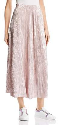 Free People High Holiday Plissé Midi Skirt