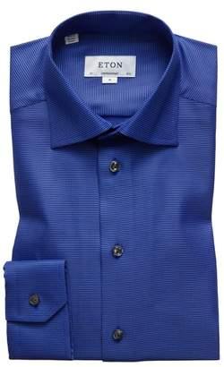 Eton Contemporary Fit Houndstooth Dress Shirt