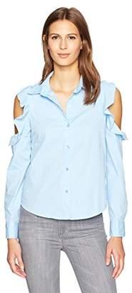Blu Pepper Women's Cold Shoulder Blouse