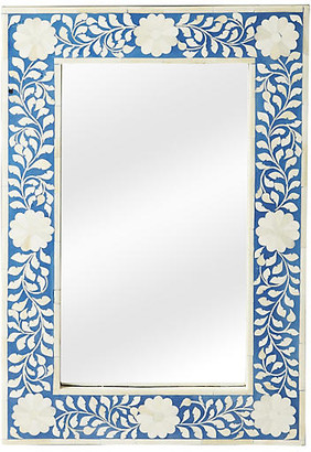 "One Kings Lane Elisabeth 16""x24"" Wall Mirror - Blue/Ivory"