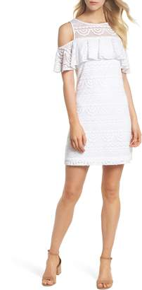 Lilly Pulitzer R) Lyra Cold Shoulder Lace Dress