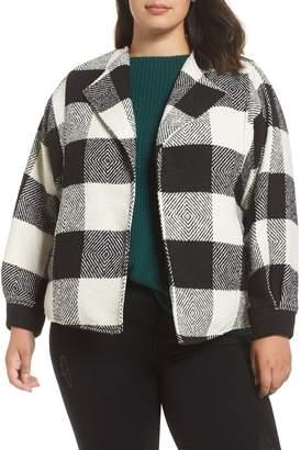 Caslon Buffalo Check Jacket (Plus Size)