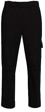 Kenzo Men's Tapered & Cropped Stretch Cotton Cargo Pants