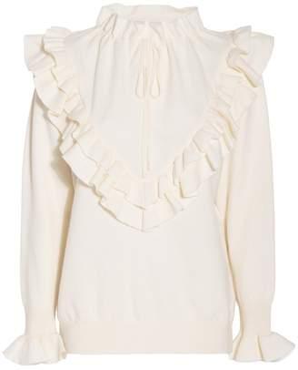 Stella McCartney Frilled Wool Sweater