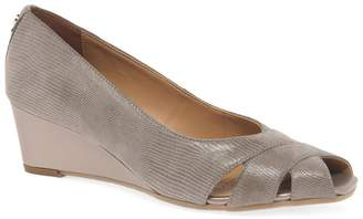 Van Dal Fawn Leather 'Paxton' Wedge Peep Toe Shoes