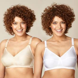 Debenhams The Collection - 2 Pack White And Nude Non-Wired Non-Padded Full Cup Bras