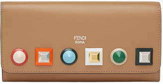 Fendi studded wallet with chain