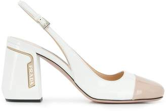 Prada two-tone slingback pumps
