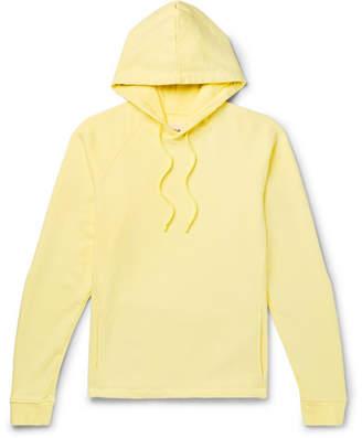 Folk Slim-Fit Loopback Cotton-Jersey Hoodie - Men - Yellow