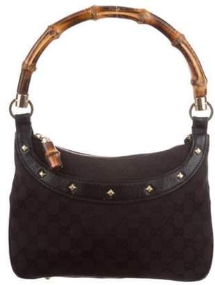 Gucci Nailhead Bamboo Handle Bag Black Nailhead Bamboo Handle Bag