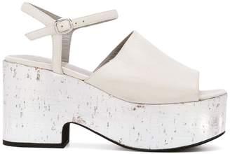Strategia metallic platform sandals