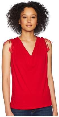 Lauren Ralph Lauren Ruched Shoulder Tank Top Women's Sleeveless