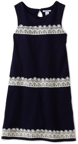 Hartstrings Girls 7-16 Big Sleevesless Lace Detail Dress