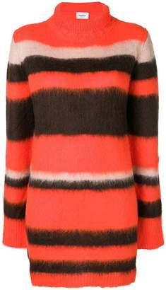 Dondup roll-neck striped dress