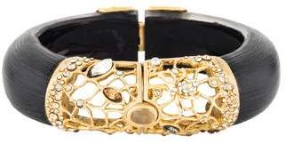 Alexis Bittar Moonstone, Lucite & Crystal Bangle