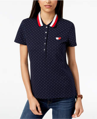 Tommy Hilfiger Dot-Print Polo Top