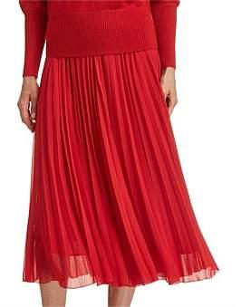 SABA Cicely Pleat Midi Skirt