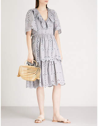 See by Chloe Broderie anglaise cotton dress