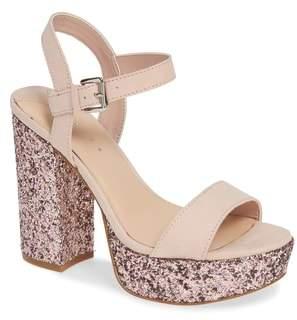 Leith Tavor Glitter Platform Sandal