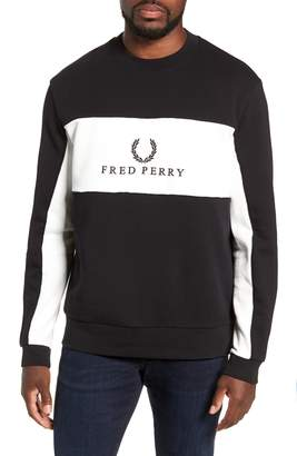 Fred Perry Colorblock Crewneck Sweatshirt