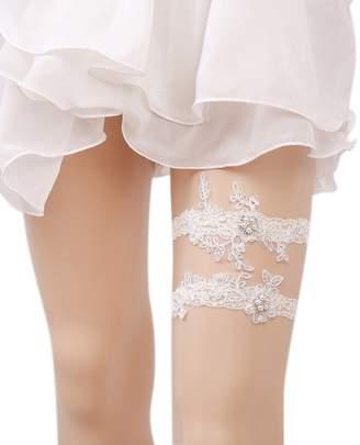 Eliffete Adjustable Garter Off White Garter Set for Sex Wedding Bride Leg Garter