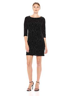 Karen Kane Women's Burnout Velvet Shift Dress