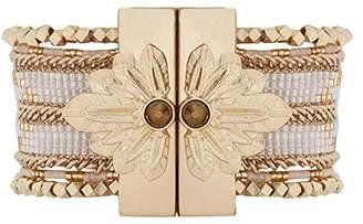 Hipanema Women Stainless Steel Cuff Bracelet - E18SETERWH