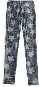 Terez Girl's Star Printed Leggings