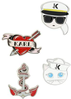 Karl Lagerfeld Captain brooches