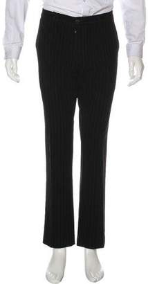 Etro Striped Flat Front Pants