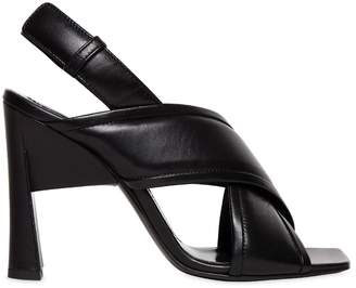 Marni 80mm Cross Over Leather Sandals