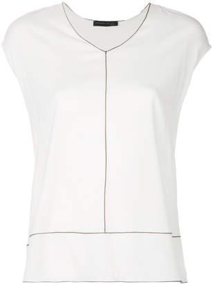 Fabiana Filippi contrast trim blouse