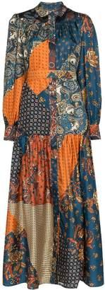 Evi Grintela Elsa patchwork silk maxi dress