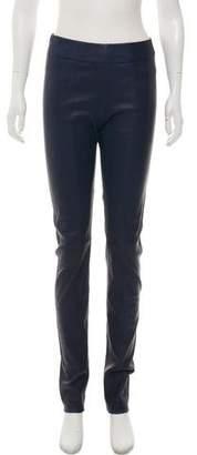 Zero Maria Cornejo Leather High-Rise Leggings