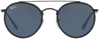 Ray-Ban Men's RB3647 Round Double-Bridge Sunglasses