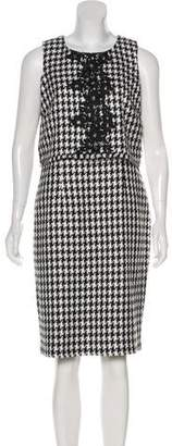 Karl Lagerfeld Houndstooth Sheath Dress w/ Tags