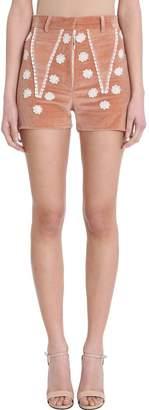 Nicolas Besson Jodie Pink Velvet Shorts