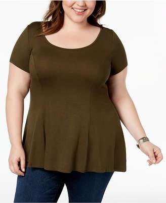 Celebrity Pink Trendy Plus Size Swing T-Shirt
