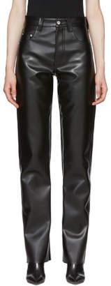 Kwaidan Editions Black Faux-Leather Biker Trousers