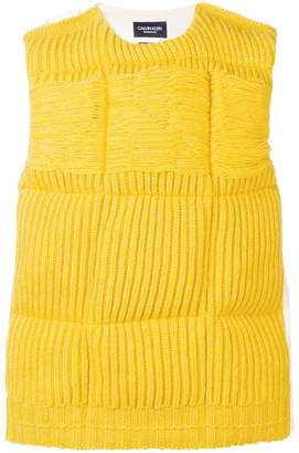Calvin Klein quilted knit gilet