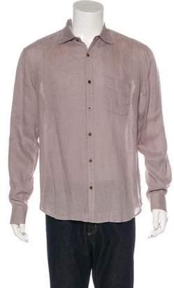 Vince Linen Button-Up Shirt