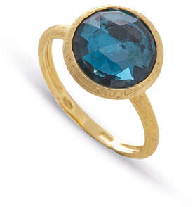 Marco Bicego Jaipur 18K Faceted Round London Blue Topaz Ring